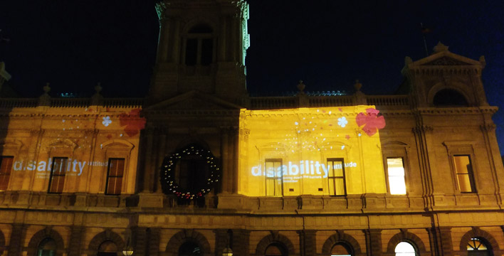 The three designs were also projected on the front facade of the Ballarat Town Hall as part of the celebrations.